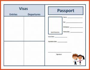 fake passport template