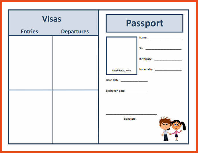 Enhance Fake Passport Template Ideas From A Reputed Company Superior