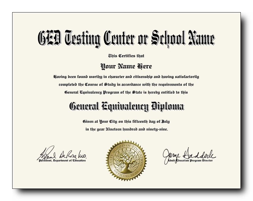 Fake ged for job