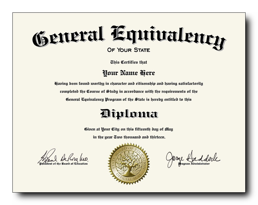 ged certificate diploma fake degree pull between place spot
